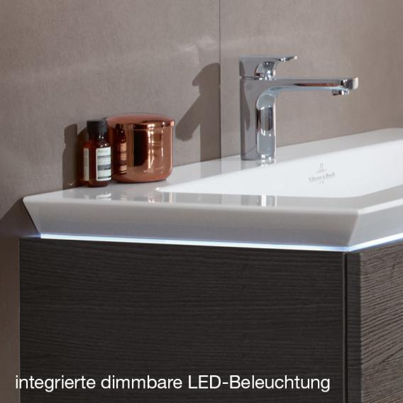 Villeroy & Boch Legato LED-Waschtischunterschrank für Aufsatzwaschtisch mit 1 Auszug Front weiß matt / Korpus weiß matt