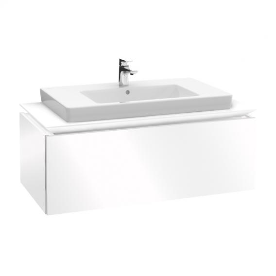 Villeroy & Boch Legato Waschtischunterschrank mit 1 Auszug Front glossy white / Korpus glossy white