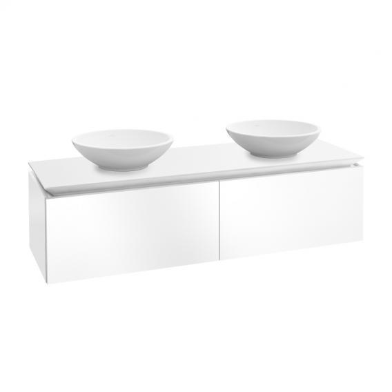 Villeroy & Boch Legato Waschtischunterschrank für 2 Aufsatzwaschtische mit 2 Auszügen Front glossy white / Korpus glossy white