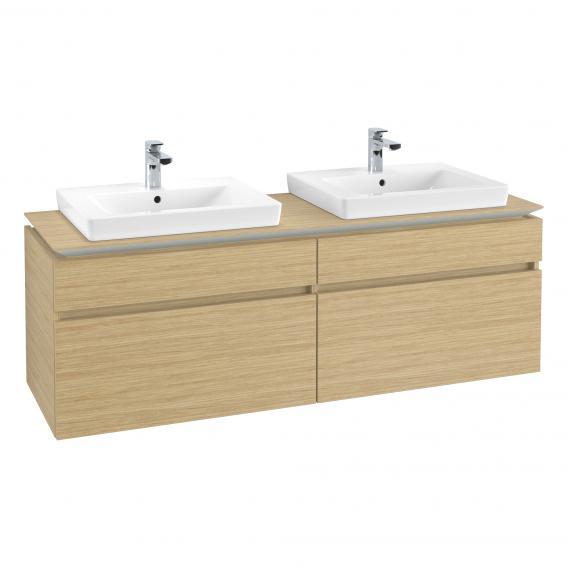 Villeroy & Boch Legato Waschtischunterschrank für 2 Einbauwaschtische mit 4 Auszügen Front nordic oak / Korpus nordic oak