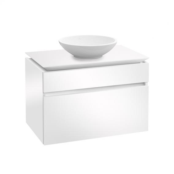 Villeroy & Boch Legato Waschtischunterschrank für Aufsatzwaschtisch mit 2 Auszügen Front glossy white / Korpus glossy white