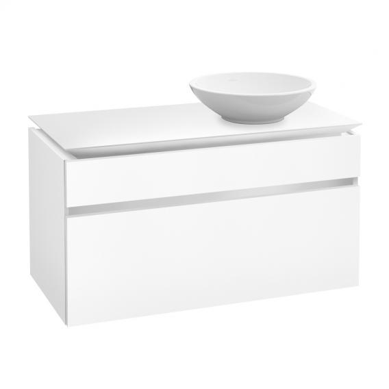 Villeroy & Boch Legato Waschtischunterschrank für Aufsatzwaschtisch mit 2 Auszügen Front weiß matt / Korpus weiß matt