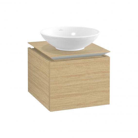 Villeroy & Boch Legato Waschtischunterschrank für Aufsatzwaschtisch mit 1 Auszug Front nordic oak / Korpus nordic oak