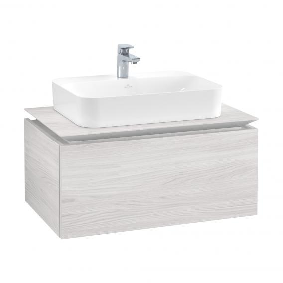 Villeroy & Boch Legato Waschtischunterschrank für Aufsatzwaschtisch mit 1 Auszug Front white wood / Korpus white wood