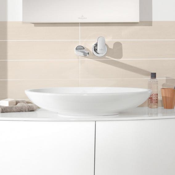 Villeroy & Boch Loop & Friends Aufsatzwaschtisch, oval weiß mit CeramicPlus mit Überlauf