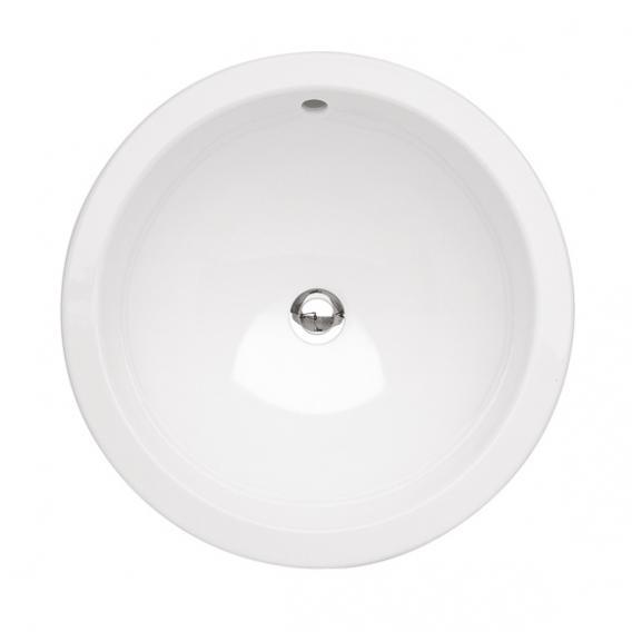 Villeroy & Boch Loop & Friends Einbauwaschtisch, rund weiß mit CeramicPlus mit Überlauf