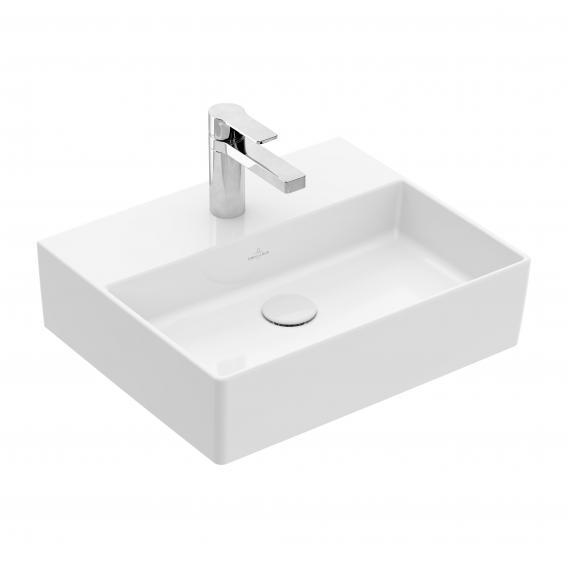 Villeroy & Boch Memento 2.0 Handwaschbecken weiß mit CeramicPlus, mit 1 Hahnloch, ohne Überlauf, geschliffen