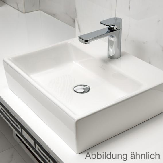 Villeroy & Boch Memento Aufsatzwaschtisch weiß mit CeramicPlus, mit 1 Hahnloch, mit Überlauf