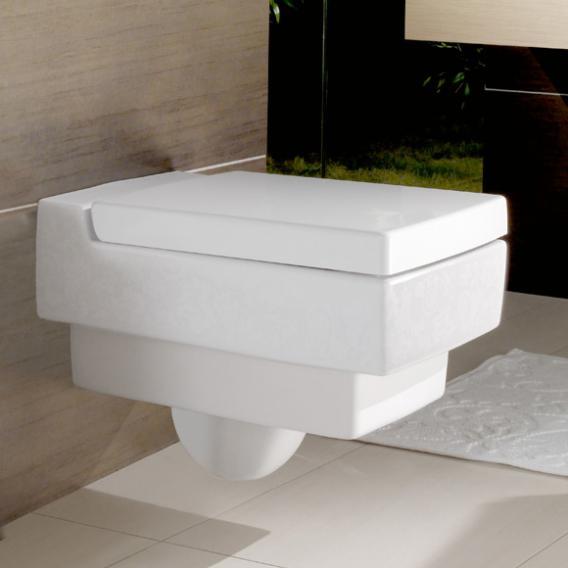 Villeroy & Boch Memento WC-Sitz, abnehmbar, mit Absenkautomatik weiß