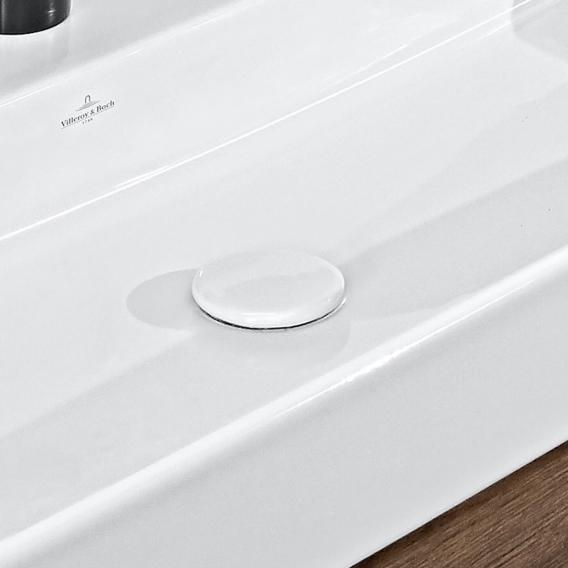 Villeroy & Boch nicht verschließbares Ventil mit flacher Abdeckung aus Keramik starwhite