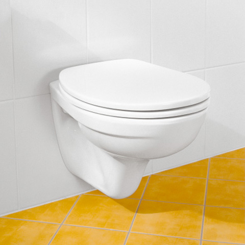 Villeroy & Boch Omnia classic Wand-Tiefspül-WC Compact weiß, mit CeramicPlus
