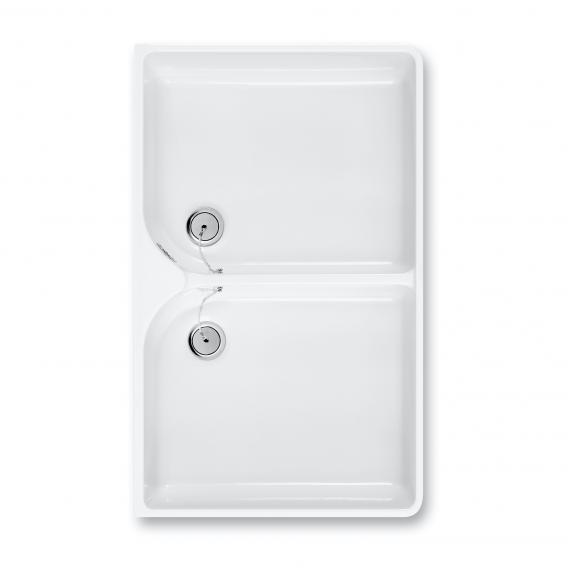 Villeroy & Boch O.novo Doppelspülbecken weiß mit CeramicPlus