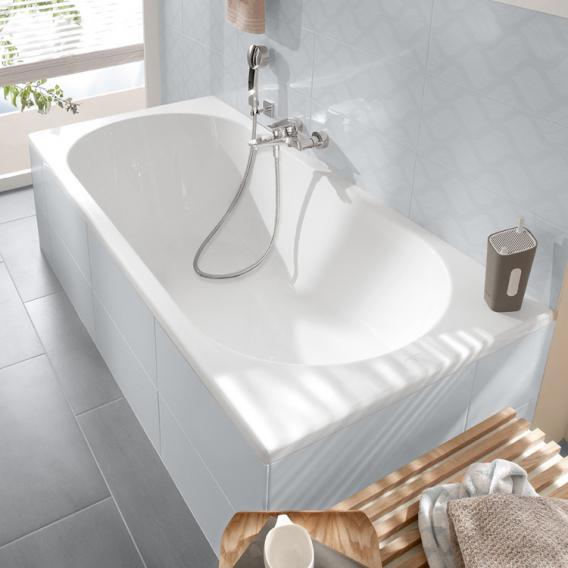 Villeroy & Boch O.novo Solo Rechteck-Badewanne, Einbau weiß