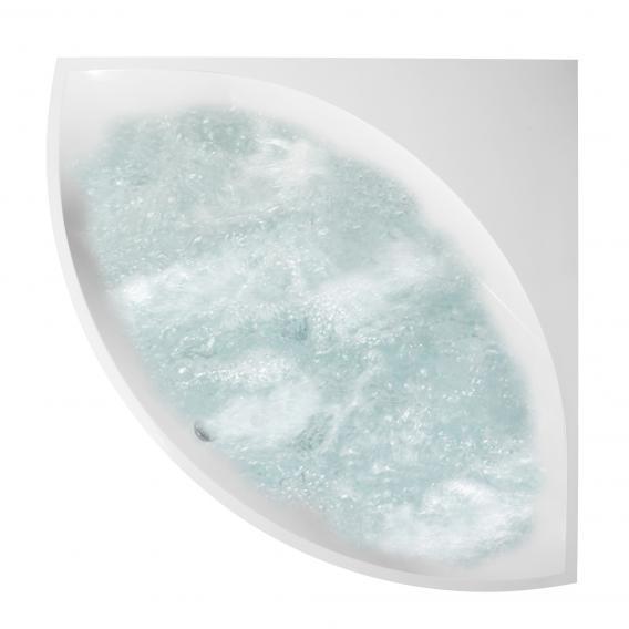 Villeroy & Boch Squaro Eck Badewanne mit Whirlpoolsystem, Technikposition 2 weiß, mit AirPool Entry