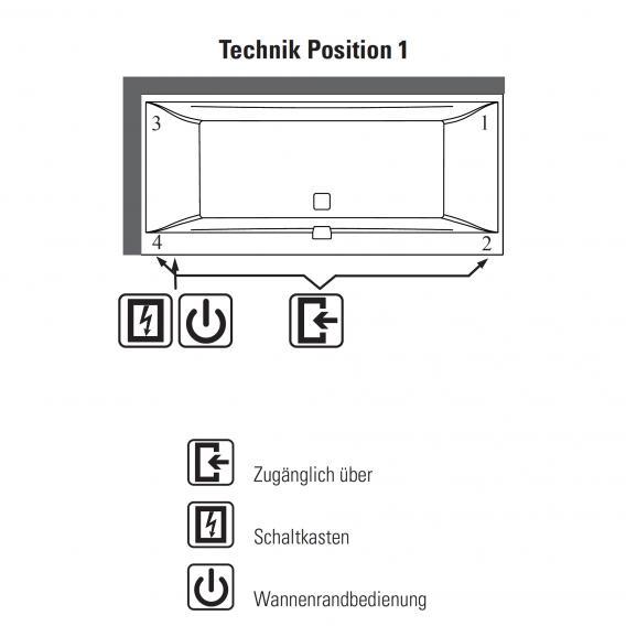 Villeroy & Boch Squaro Edge 12 Duo Rechteck Badewanne mit Whirlpoolsystem weiß mit CombiPool Comfort