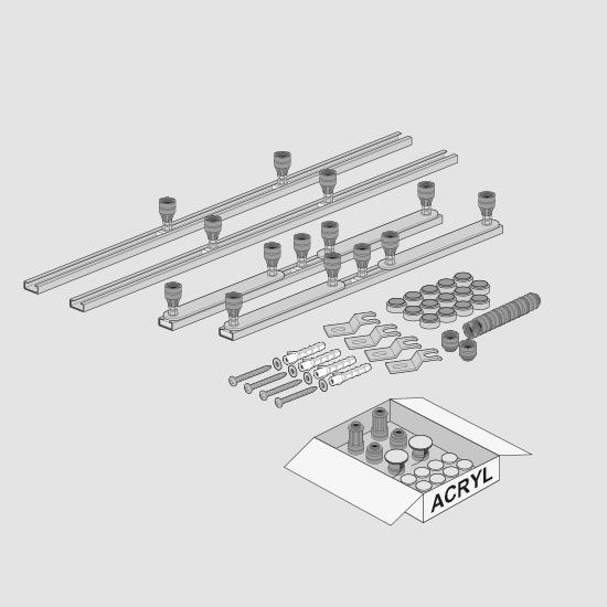 Villeroy & Boch Squaro Infinity MEPA Duschwannengestell, alle Größen