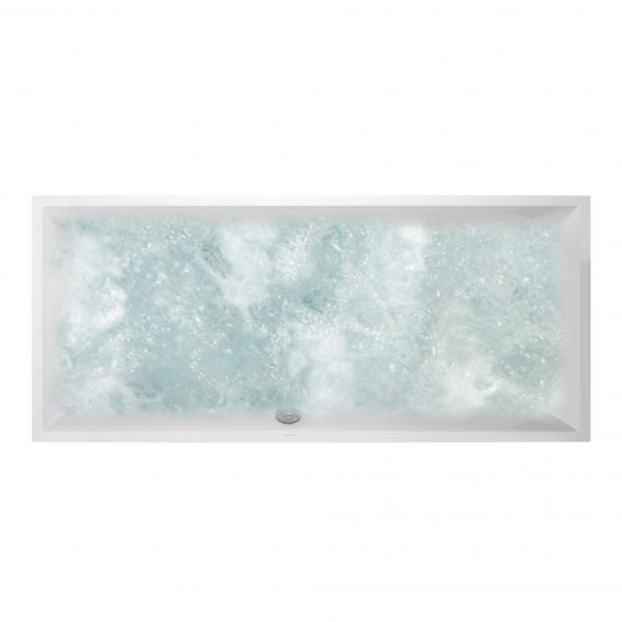Villeroy & Boch Squaro Rechteck-Whirlwanne, Einbau weiß, mit HydroPool Comfort, mit Wanneneinlauf