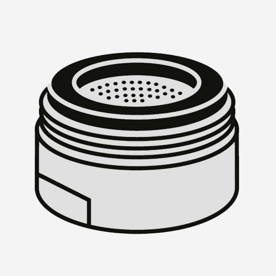 Villeroy & Boch Strahlregler für Niederdruck-Einhand-Spültischbatterie edelstahl gebürstet