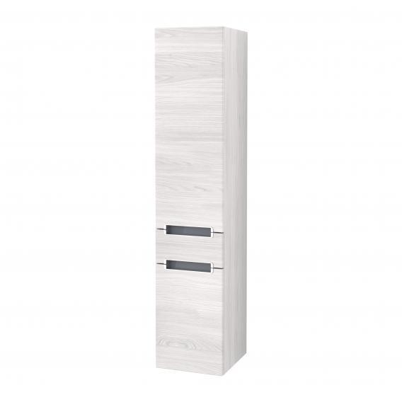 Villeroy & Boch Subway 2.0 Hochschrank mit 2 Türen und 1 Schublade Front white wood / Korpus white wood, Griff silber matt
