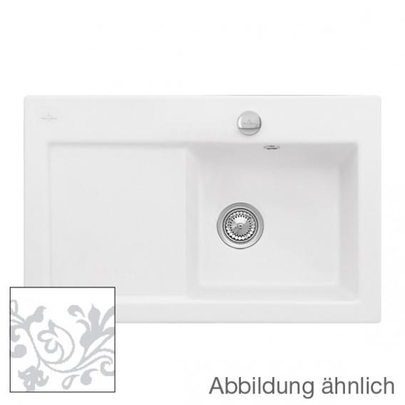 villeroy boch subway 45 sp le mit excenterbet tigung b 78 t 51 cm becken rechts white pearl. Black Bedroom Furniture Sets. Home Design Ideas