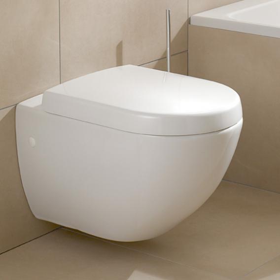 Villeroy & Boch Subway WC-Sitz Compact weiß mit Quick Release und Absenkautomatik soft-close
