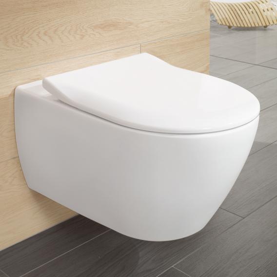 Villeroy & Boch Subway WC-Sitz Slimseat weiß mit Quick Release und Absenkautomatik soft-close