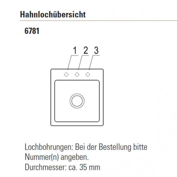 Villeroy & Boch Subway XS Flat Spüle mit Excenterbetätigung B: 44 T: 47,5 cm weiß alpin hochglanz/Position Hahnloch 2