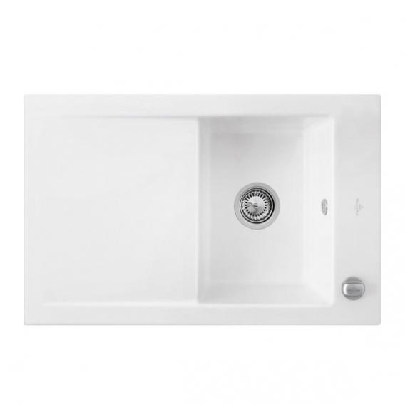 villeroy boch timeline 45 sp le mit excenterbet tigung b 80 t 51 cm wei alpin hochglanz. Black Bedroom Furniture Sets. Home Design Ideas
