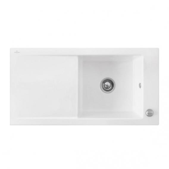villeroy boch timeline 60 sp le mit excenterbet tigung b 100 t 51 cm wei alpin hochglanz. Black Bedroom Furniture Sets. Home Design Ideas