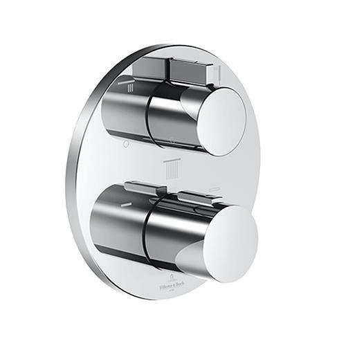 Villeroy & Boch UP-Thermostat mit Dreiwege-Mengenregulierung chrom
