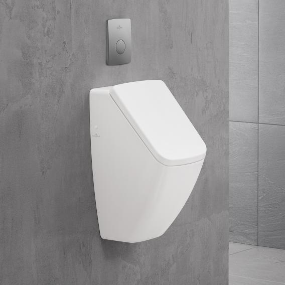 Villeroy & Boch Venticello DirectFlush Urinal, Zulauf hinten für Deckel, weiß mit CeramicPlus
