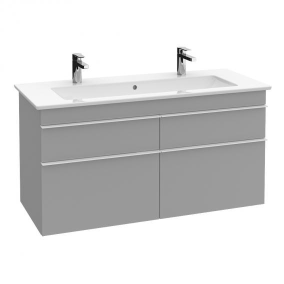 Villeroy & Boch Venticello Doppel-Möbelwaschtisch weiß mit CeramicPlus mit 2 Hahnlöchern durchgestochen