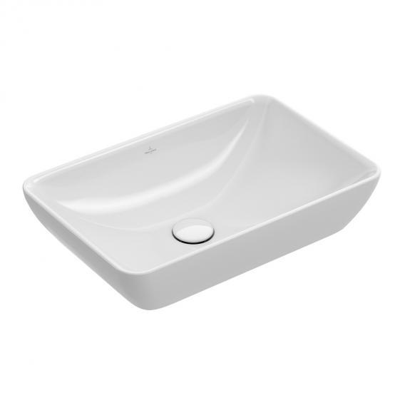 Villeroy & Boch Venticello Halbeinbau-Aufsatzwaschtisch weiß, mit CeramicPlus