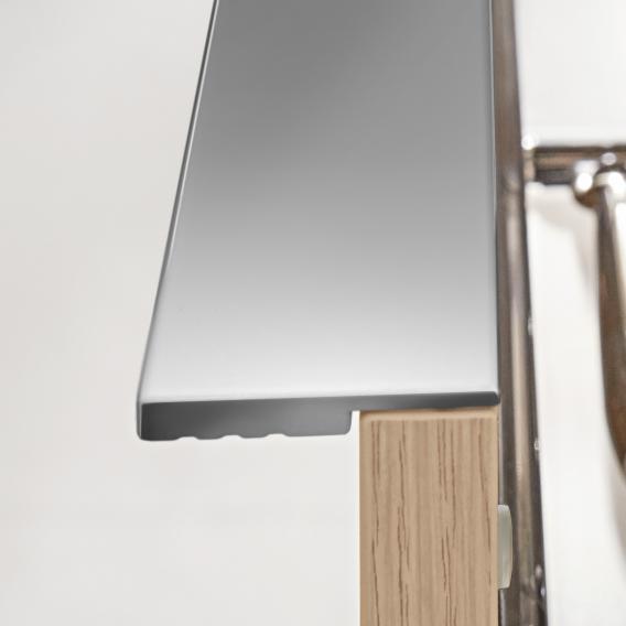 Villeroy & Boch Venticello Seitenschrank mit 1 Schublade und 1 Tür Front soft grey / Korpus soft grey, Griff chrom
