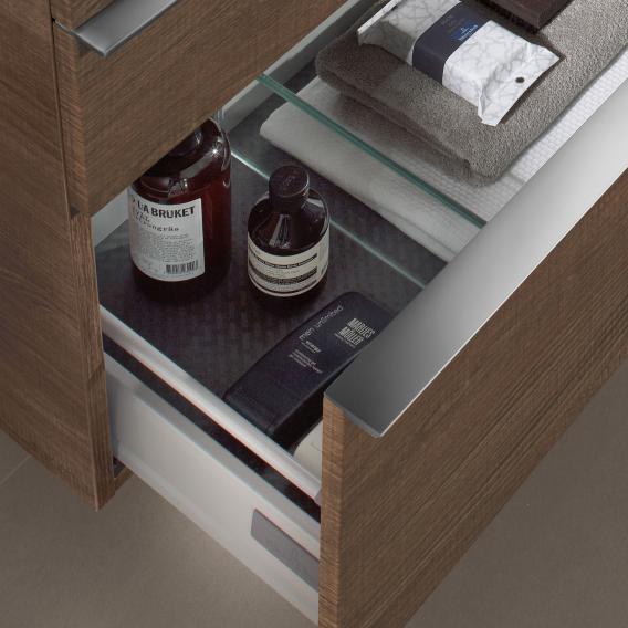 Villeroy & Boch Venticello Waschtischunterschrank XXL für Aufsatzwaschtisch mit 2 Auszügen Front arizona oak / Korpus arizona oak, Griff chrom