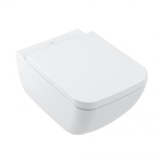 Villeroy & Boch Venticello WC-Sitz, abnehmbar, mit Absenkautomatik weiß