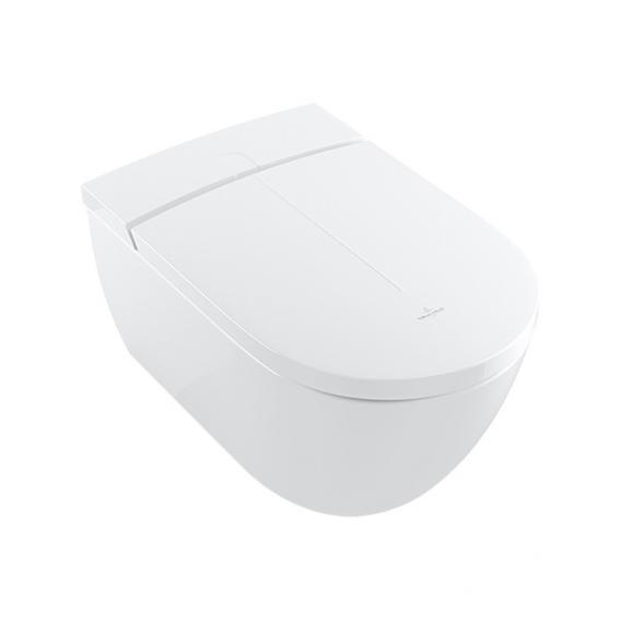 Villeroy & Boch ViClean I100 Dusch-WC, offener Spülrand, DirectFlush, mit WC-Sitz weiß