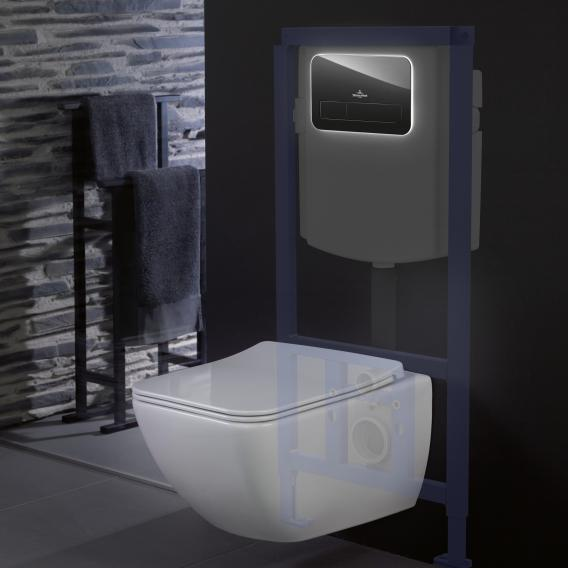 Villeroy & Boch ViConnect L200 Betätigungsplatte mit LED-Beleuchtung Glas, glossy black