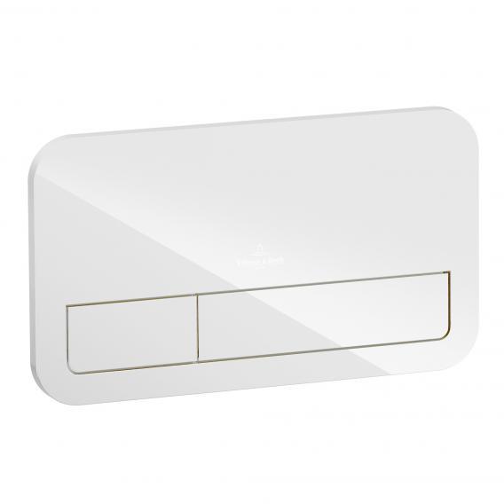 Villeroy & Boch ViConnect M200 Betätigungsplatte Glas, glossy white