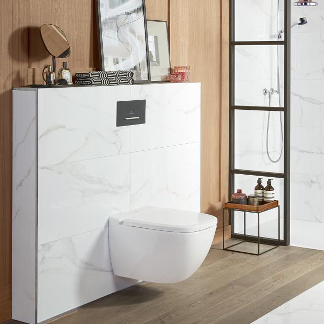 Villeroy & Boch Antheus Wand-Tiefspül-WC, offener Spülrand, DirectFlush stonewhite, mit CeramicPlus