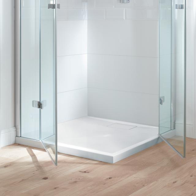 Villeroy & Boch Architectura MetalRim Duschwanne, flach Randhöhe 4,8 cm weiß Antirutsch