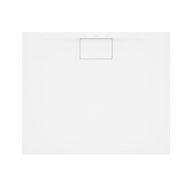 Villeroy & Boch Architectura MetalRim superflach Duschwanne, Randhöhe 1,5 cm weiß, mit rutschhemmender Oberfläche VilboGrip