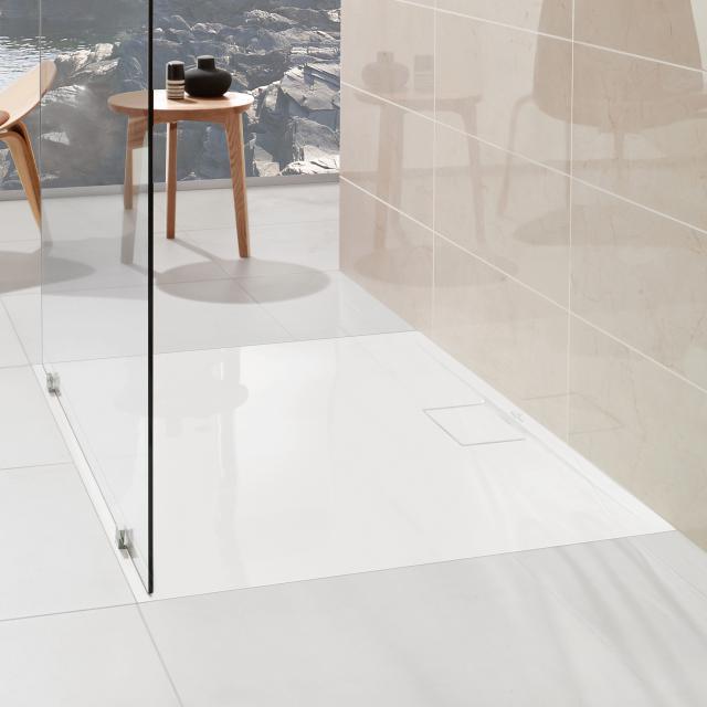Villeroy & Boch Architectura MetalRim superflach Duschwanne, Randhöhe 1,5 cm weiß