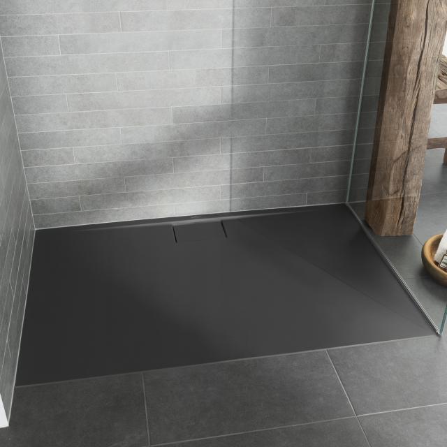 Villeroy & Boch Architectura MetalRim superflach Duschwanne, Randhöhe 1,5 cm anthrazit matt