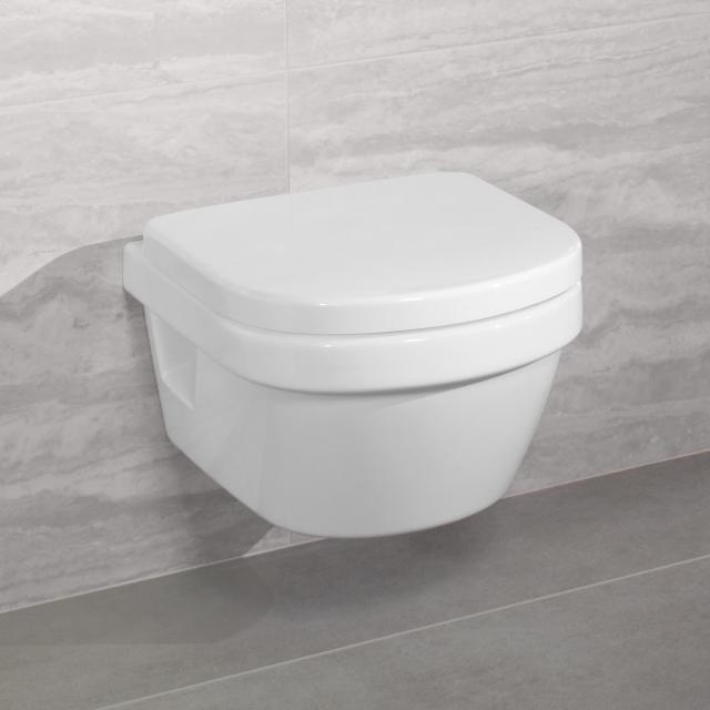 Villeroy & Boch Architectura Wand-Tiefspül-WC XL offener Spülrand, DirectFlush weiß, mit CeramicPlus und AntiBac