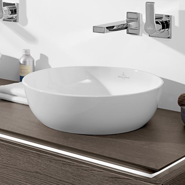Villeroy & Boch Artis Aufsatzwaschtisch stone white mit CeramicPlus