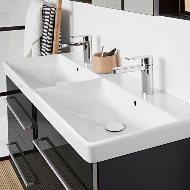Villeroy & Boch Avento Doppel-Möbelwaschtisch weiß mit CeramicPlus, mit Überlauf