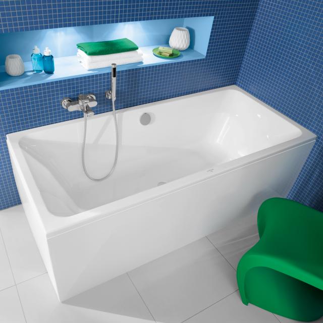 Villeroy & Boch Avento Duo Rechteck-Badewanne, Einbau weiß