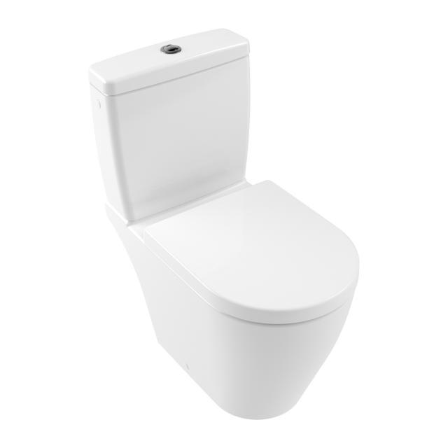 Villeroy & Boch Avento Stand-Tiefspül-WC für Kombination, spülrandlos stone white, mit CeramicPlus