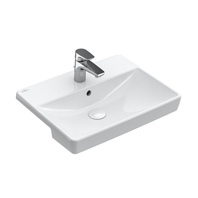 Villeroy & Boch Avento Vorbauwaschtisch weiß mit CeramicPlus, mit Überlauf